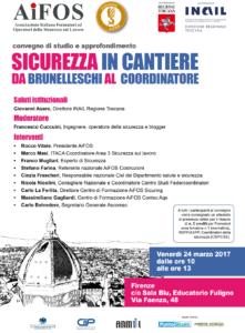 Sicurezza in cantiere da Brunelleschi al coordinatore PROGRAMMA