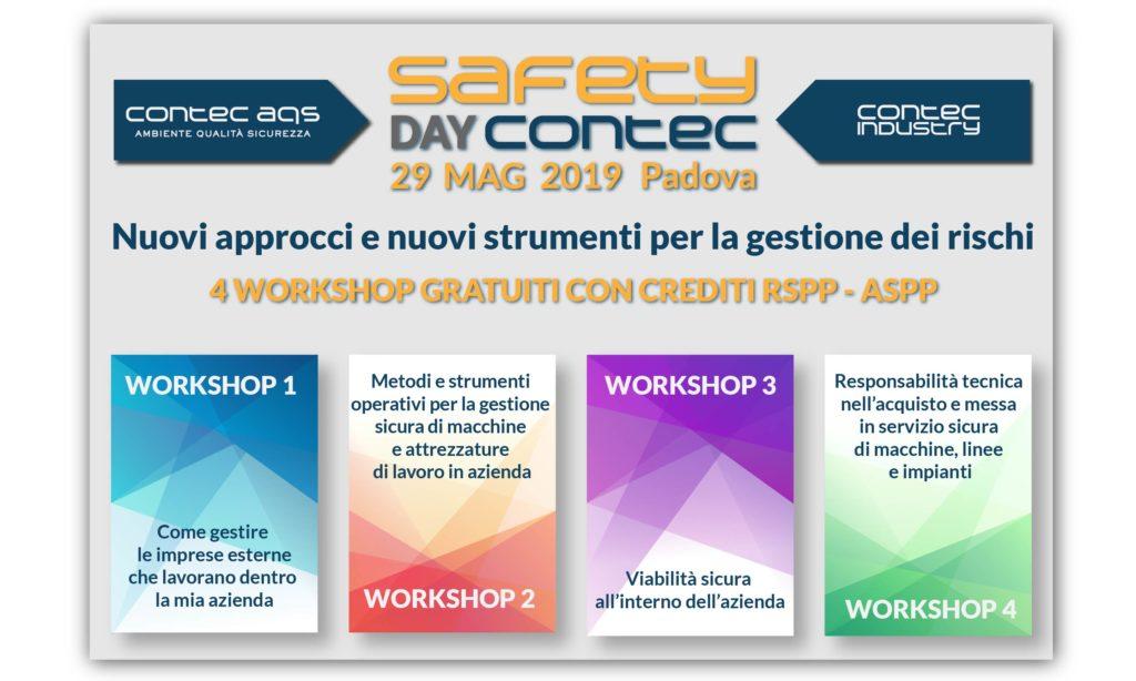 SAFETY DAY CONTEC | Nuovi approcci e nuovi strumenti per la gestione dei rischi
